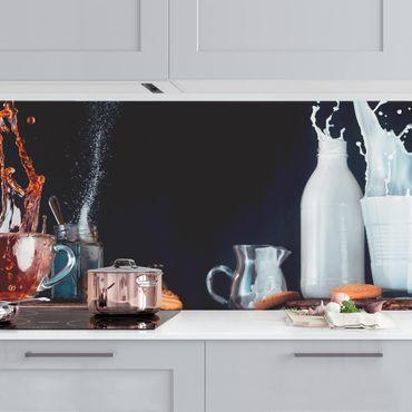 Rivestimento cucina - Latte e tè Composizione