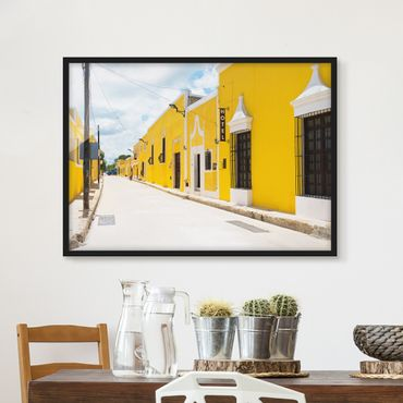 Poster con cornice - City In Yellow - Orizzontale 3:4