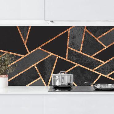 Rivestimenti cucina - Nero Triangoli d'oro