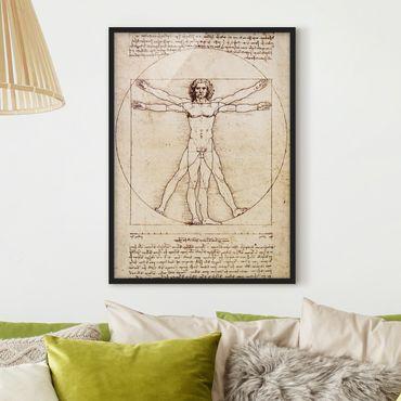 Poster con cornice - Da Vinci - Verticale 4:3