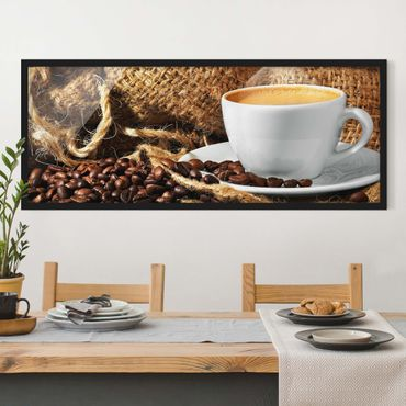 Poster con cornice - Il Caffè Del Mattino - Panorama formato orizzontale