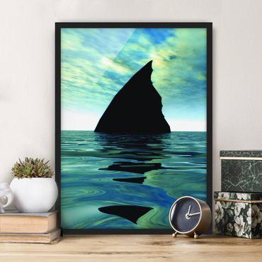 Poster con cornice - Shark Attack - Verticale 4:3