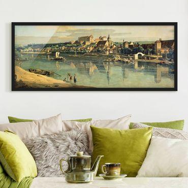 Poster con cornice - Bernardo Bellotto - View Of Pirna - Panorama formato orizzontale