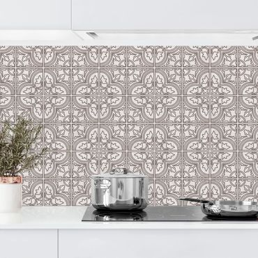 Rivestimento cucina - Motivo piastrelle Faro grigio