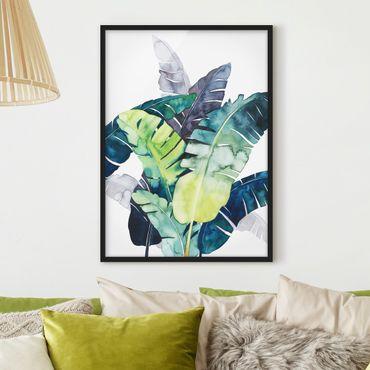 Poster con cornice - Exotic Fogliame - Banana - Verticale 4:3