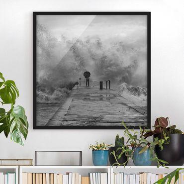 Poster con cornice - Raging Sea - Quadrato 1:1