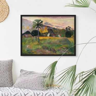 Poster con cornice - Paul Gauguin - Come Here - Orizzontale 3:4