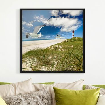 Poster con cornice - Dune Breeze - Quadrato 1:1