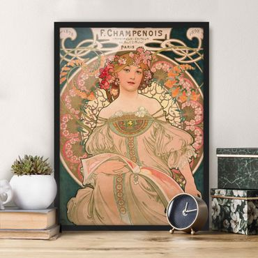 Poster con cornice - Alfons Mucha - Poster For F. Champenois - Verticale 4:3