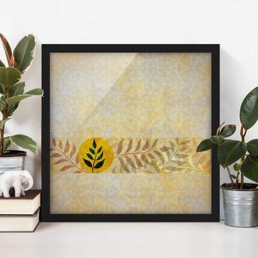 Poster con cornice - Asian Patterns - Quadrato 1:1