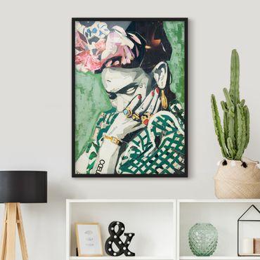 Poster con cornice - Frida Kahlo - Collage No.3 - Verticale 4:3