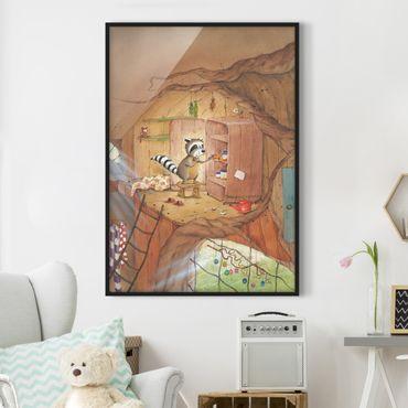 Poster con cornice - Procione Wassili - Wassili sull'armadio della cucina