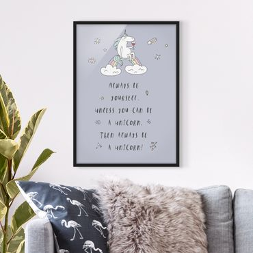 Poster con cornice - Always Be Yourself - Verticale 4:3