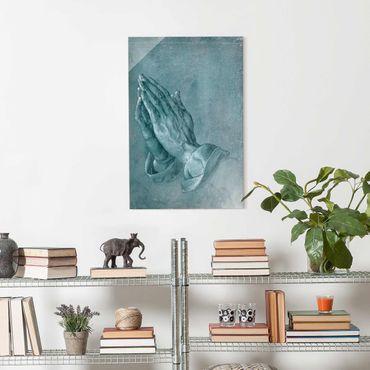Quadro in vetro - Albrecht Dürer - Studio di mani in preghiera - Verticale 3:2
