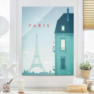 Quadro in vetro - Poster Viaggio - Parigi - Verticale 4:3