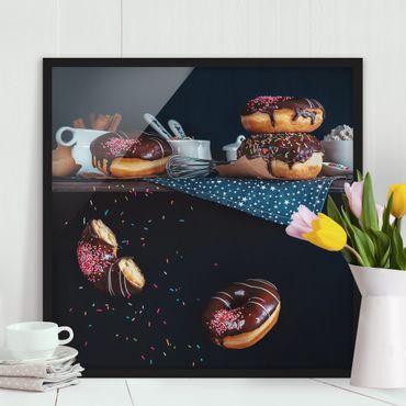Poster con cornice - Donuts From The Kitchen Shelf - Quadrato 1:1