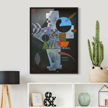 Poster con cornice - Wassily Kandinsky - Cross Shape - Verticale 4:3