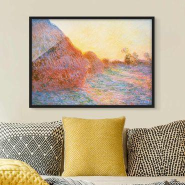Poster con cornice - Claude Monet - Straw Barn - Orizzontale 3:4