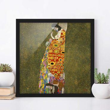 Poster con cornice - Gustav Klimt - Hope II - Quadrato 1:1