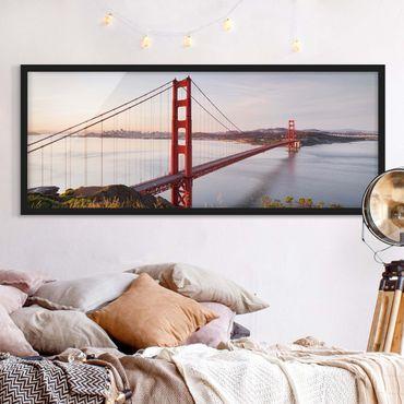 Poster con cornice - Golden Gate Bridge Di San Francisco - Panorama formato orizzontale