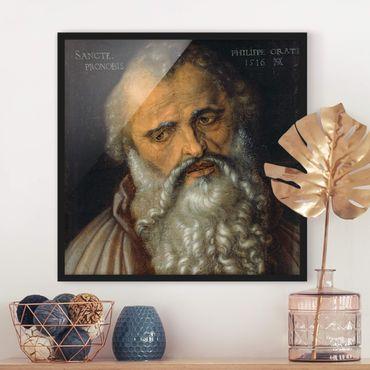 Poster con cornice - Albrecht Dürer - The Apostle Philip - Quadrato 1:1