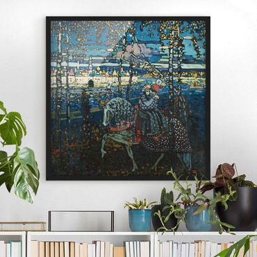 Poster con cornice - Wassily Kandinsky - Riding Couple - Quadrato 1:1