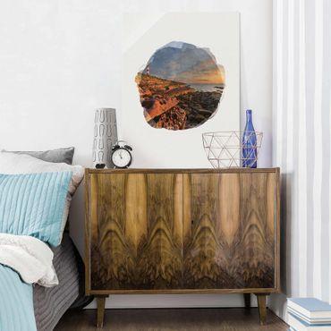 Quadro in vetro - Acquerelli - Tarbat Ness Sea & faro al tramonto - Verticale 4:3