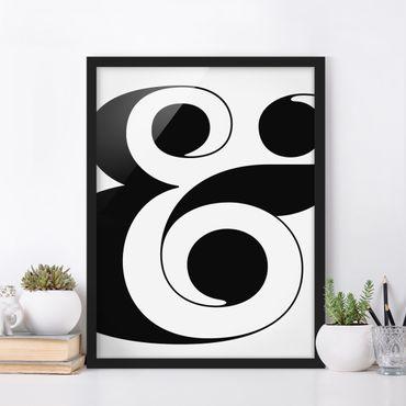 Poster con cornice - Antiqua Letter & - Verticale 4:3