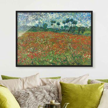 Poster con cornice - Vincent Van Gogh - Poppy Field - Orizzontale 3:4