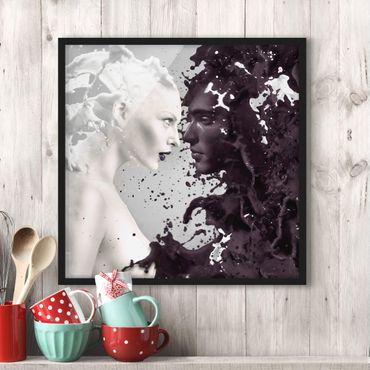 Poster con cornice - Milk & Coffee - Quadrato 1:1