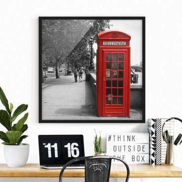 Poster con cornice - Telephone - Quadrato 1:1