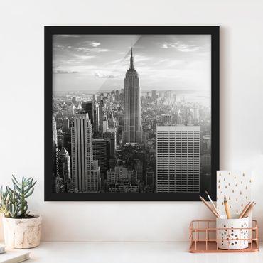 Poster con cornice - Manhattan Skyline - Quadrato 1:1