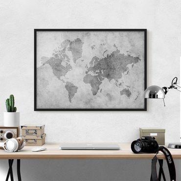 Poster con cornice - Vintage World Map II - Orizzontale 3:4