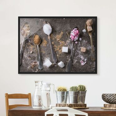 Poster con cornice - Vintage Spoon With Sugar - Orizzontale 3:4