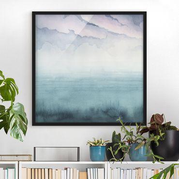 Poster con cornice - Dusk On The Bay I - Quadrato 1:1