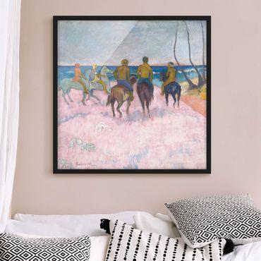 Poster con cornice - Paul Gauguin - Rider At The Beach - Quadrato 1:1