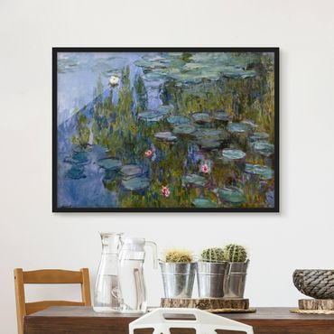 Poster con cornice - Claude Monet - Water Lilies (Nympheas) - Orizzontale 3:4