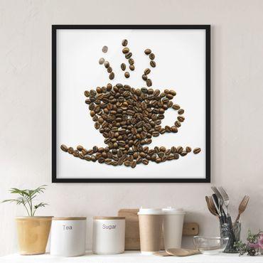 Poster con cornice - Coffee Beans Cup - Quadrato 1:1