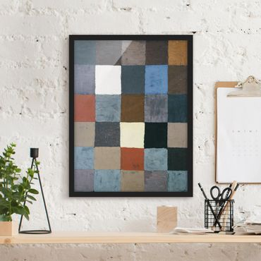 Poster con cornice - Paul Klee - Color Chart (On Gray) - Verticale 4:3