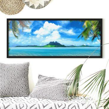 Poster con cornice - Vacanza Da Sogno - Panorama formato orizzontale