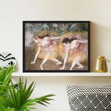Poster con cornice - Edgar Degas - Bowing Ballerinas - Orizzontale 3:4