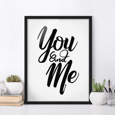 Poster con cornice - You And Me - Verticale 4:3