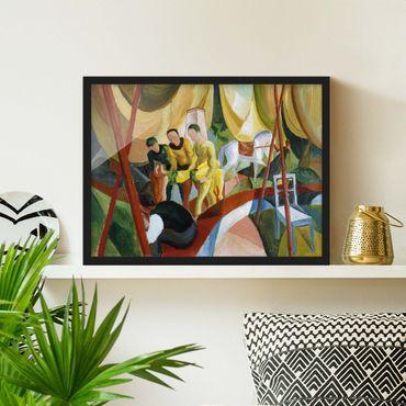 Poster con cornice - August Macke - Circus - Orizzontale 3:4