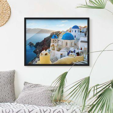 Poster con cornice - Santorini - Orizzontale 3:4