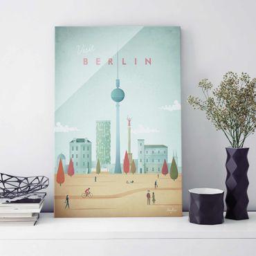 Quadro in vetro - Poster viaggio - Berlino - Verticale 3:2