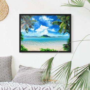 Poster con cornice - Dream Vacation - Orizzontale 3:4