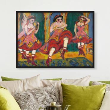 Poster con cornice - Ernst Ludwig Kirchner - Czardastänzerinnen - Orizzontale 3:4