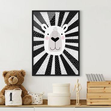 Poster con cornice - Zoo Con I Modelli - Lion - Verticale 4:3
