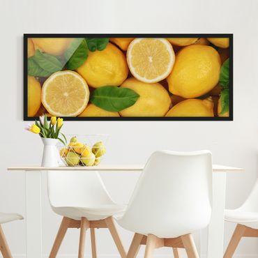 Poster con cornice - Limoni Succosi - Panorama formato orizzontale