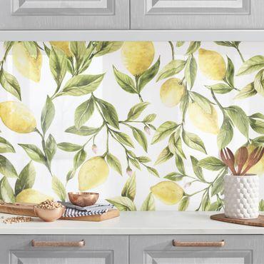Rivestimento cucina - Fruity Limoni con foglie